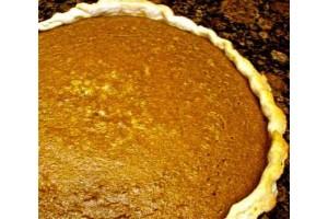 Maple Planked Pumpkin Pie