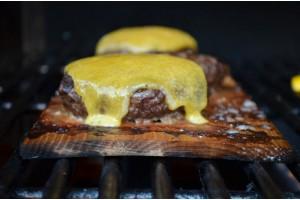 Hickory Smoked Cheeseburgers + Zucchini Fries