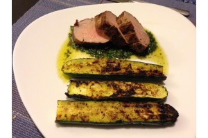 Oak Planked Pork Tenderloin with Honey-Sage Gremolata