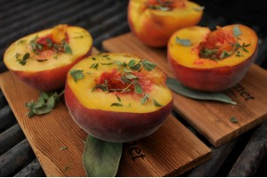 Oh-So-Simple Cedar-Planked Peaches