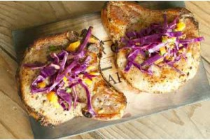 Maple Planked Pork Chops