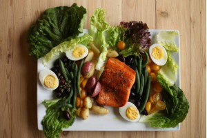 Niçoise Salad with Cedar Planked Steelhead